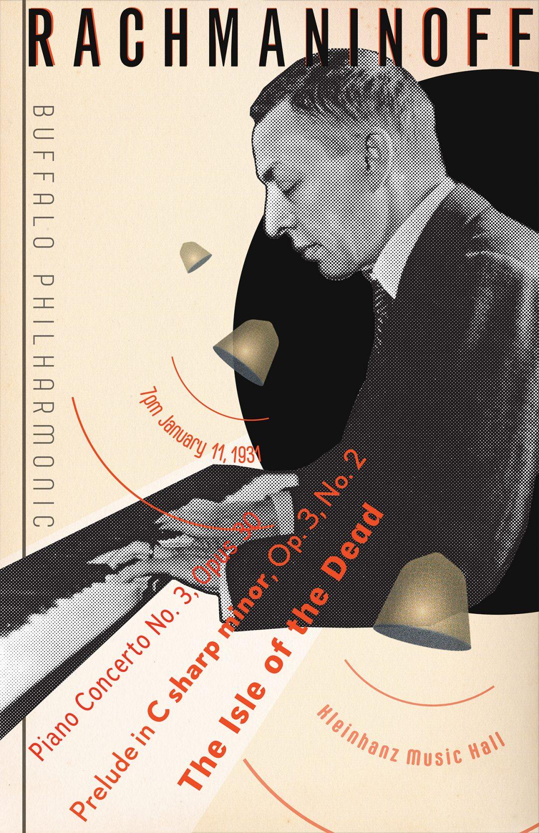 Rachmaninoff Concert Poster